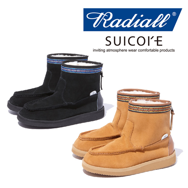 RADIALL ラディアル radiall SALE30%OFF RED WOOD - MOUTON 交換不可 スイコック 美品 年中無休 BOOTS RAD-18AW-JW001 ムートンブーツ SUICOKE セール 返品