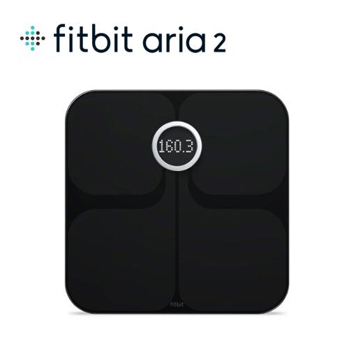 Fitbit フィットビット Aria2  Wi-Fi Smart Scale 多機能体重計 Black