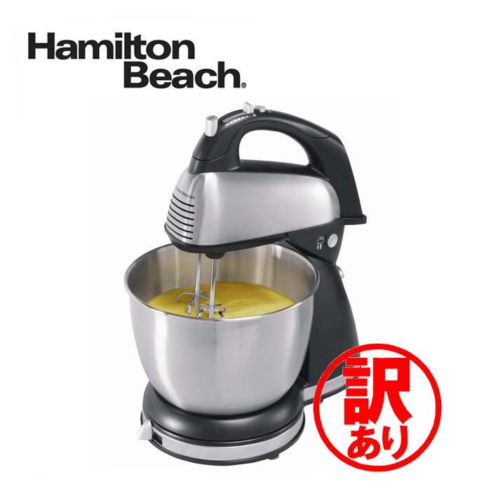 訳あり ハミルトンビーチ スタンドミキサ 64650 Hamilton Beach Hand/Stand Mixer - Black/ Chrome 並行輸入品