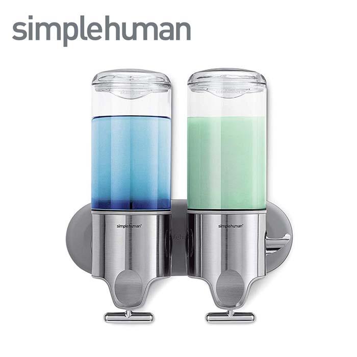 シンプルヒューマン ソープディスペンサー simplehuman ウォールマウントポンプ 444ml×2 ツイン BT1028 新作 人気 期間限定特別価格 ディスペンサー