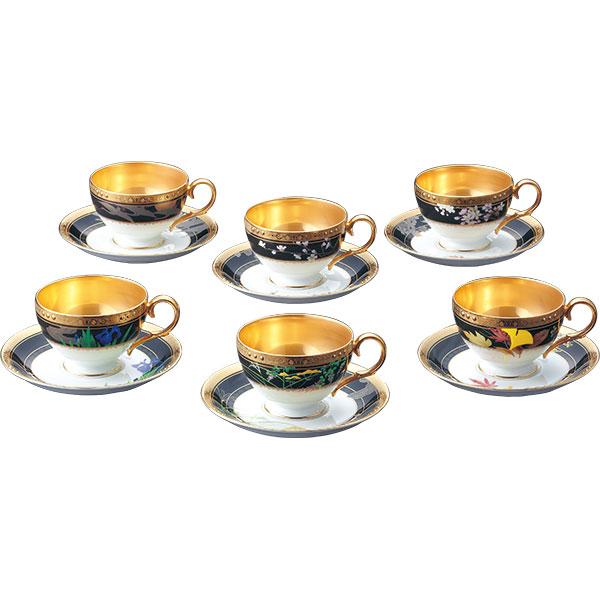 【Noritake(ノリタケ)】四季彩舞曲(しきさいろんど) ティー・コーヒー碗皿セット(6客)(絵変り)