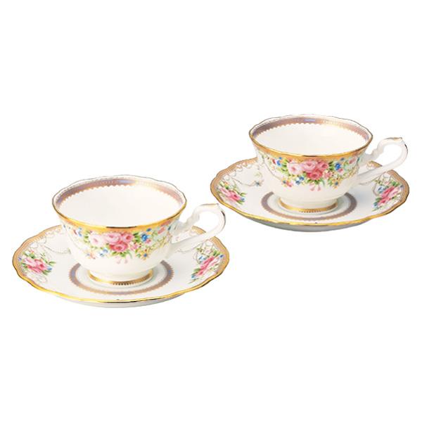 【Noritake(ノリタケ)】(アフロディーテ) ティー・コーヒー碗皿ペアセット
