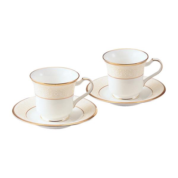 【Noritake(ノリタケ)】(ホワイトパレス) アメリカン碗皿ペアセット