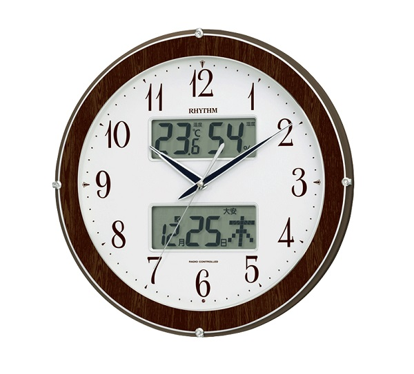 【リズム RHYTHM】 暗所自動点灯機能付  ピュアカレンダー622