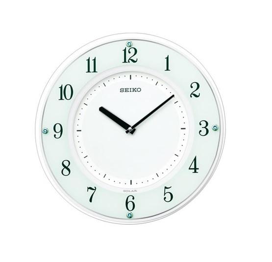 『セイコー(SEIKO)』 薄型ソーラープラス 電波掛時計 SF505W 【送料無料 送料込み】
