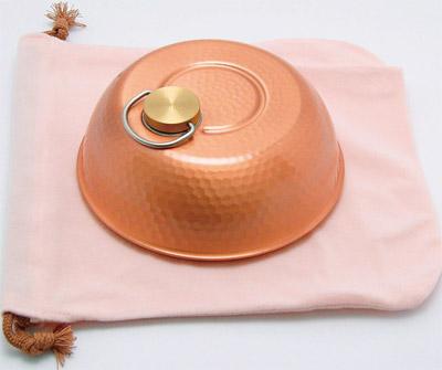 純銅製 ドーム型湯たんぽ(小)(袋付) S-9398S