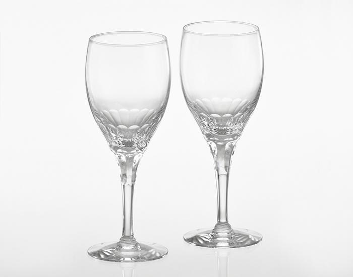 【カガミクリスタル】 ペア赤ワイングラス 〈エクラン〉  280cc