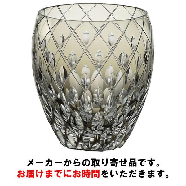 【カガミクリスタル】 【伝統工芸士篠崎英明】 ロックグラス 300cc