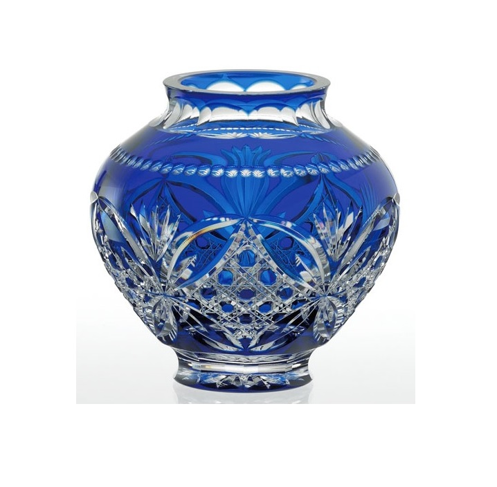 【カガミクリスタル】 江戸切子 【伝統工芸士 木村秋男】 花瓶