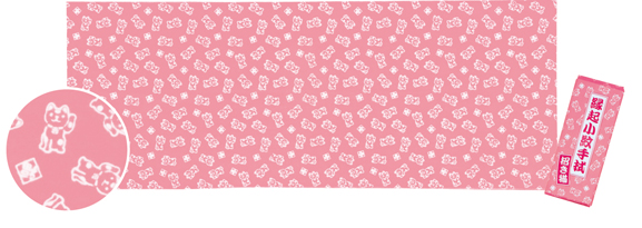 縁起小紋手拭 (招き猫) 【ご注文単位50個】