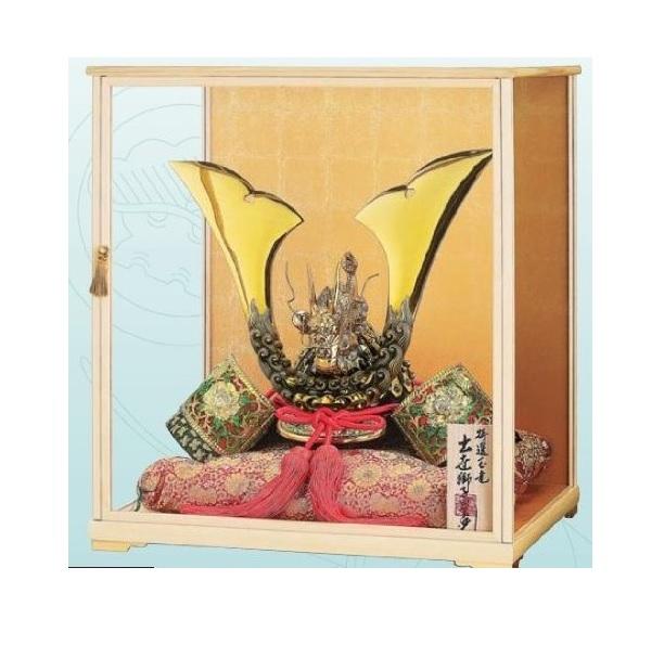 【五月人形】 【端午の節句】 【瑞島作】 M110号木製ガラスケースセット