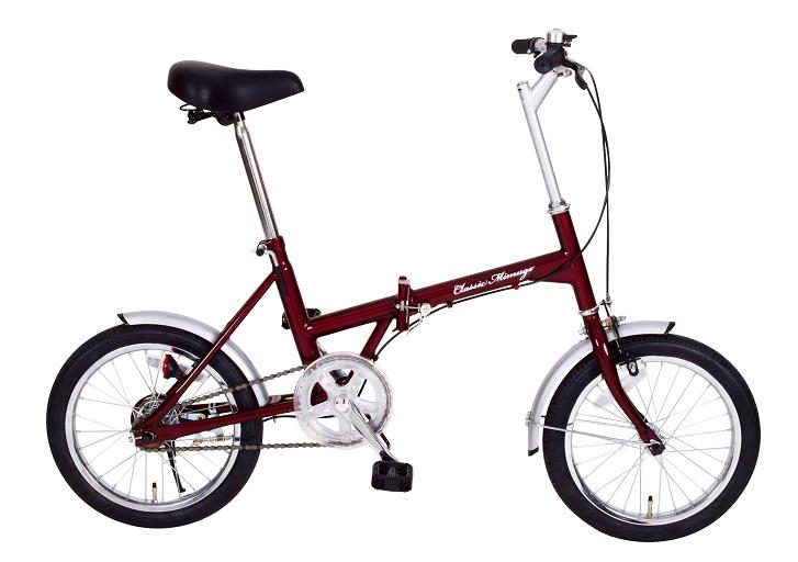 「折りたたみ自転車」Classoc Mimugo FDB16 クラシック ミムゴ MG-CM16 【送料無料 送料込み】