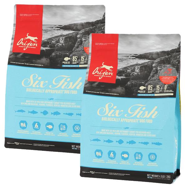 【30%OFF】Orijen オリジン 6フィッシュ 子犬から高齢犬まで 11.3kg×2袋【送料無料】【オリジンランクアップキャンペーン】[肉の日/セール/犬/総合栄養食/プレミアムフード]