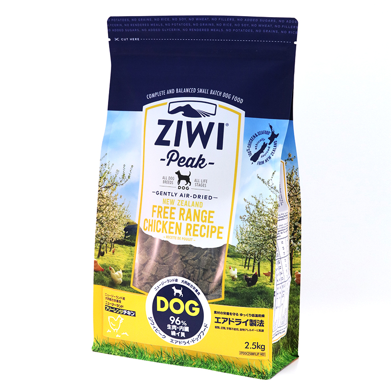 ZiwiPeak エアドライ・ドッグフード ニュージーランド フリーレンジチキン 2.5kg[ジウィピーク/グレインフリー/小型犬/中型犬/大型犬/仔犬/パピー/高齢犬/シニア犬/ペット]