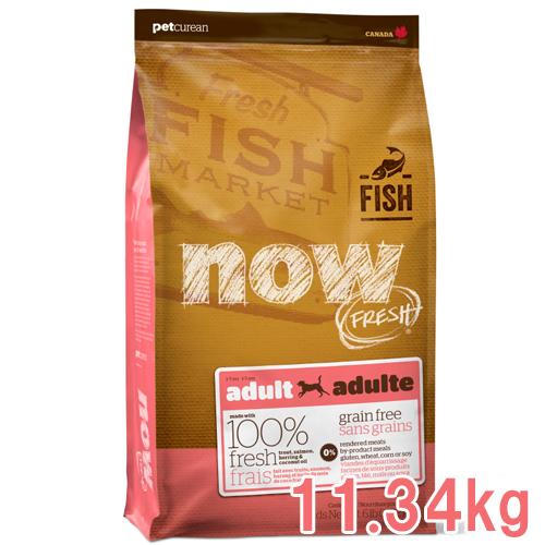 NOW FRESH ナウフレッシュ Grain Free(グレインフリー) 穀物不使用 フィッシュアダルト 成犬用 11.34kg