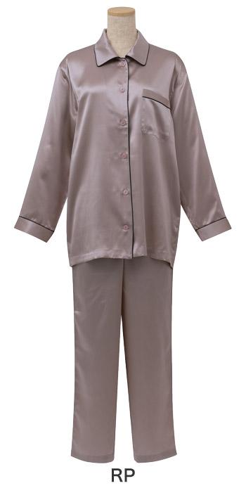 【10%OFF】ワコール 睡眠科学 シルクサテン パジャマ 上下セット レディース YDX508