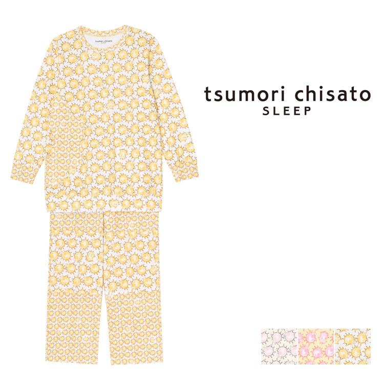 【10%OFF】ワコール ツモリチサト 太陽ドット パジャマ 上下セット ロング袖ロングパンツ 全3色 M/L UDQ218