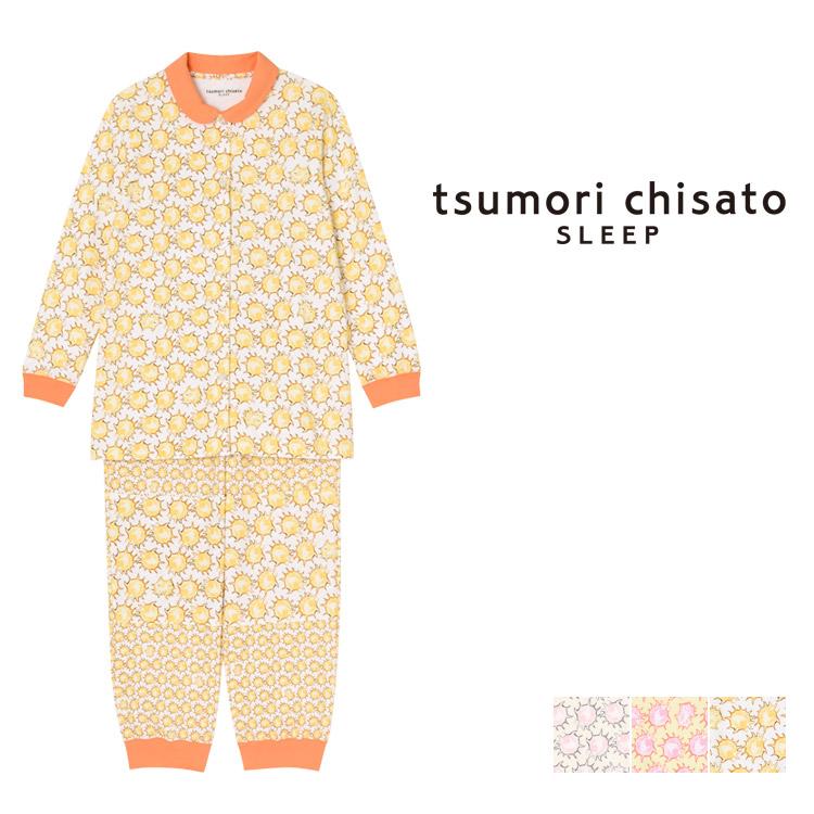 【10%OFF】ワコール ツモリチサト 太陽ドット パジャマ 上下セット ロング袖ロングパンツ 全3色 M/L UDQ219