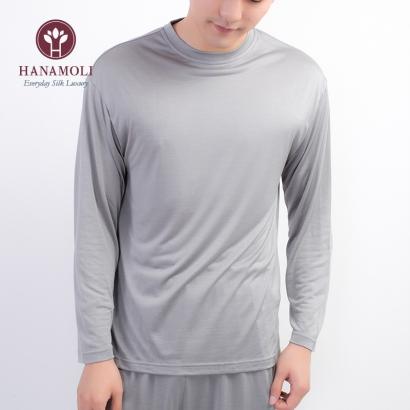 送料無料 お洗濯が簡単 silk100% ニット 長袖パジャマ シルク 絹 silk 100% 長袖 パジャマ 上質なシルク 紳士 メンズ 男性 絹 シルク パジャマ ナイティー セラス