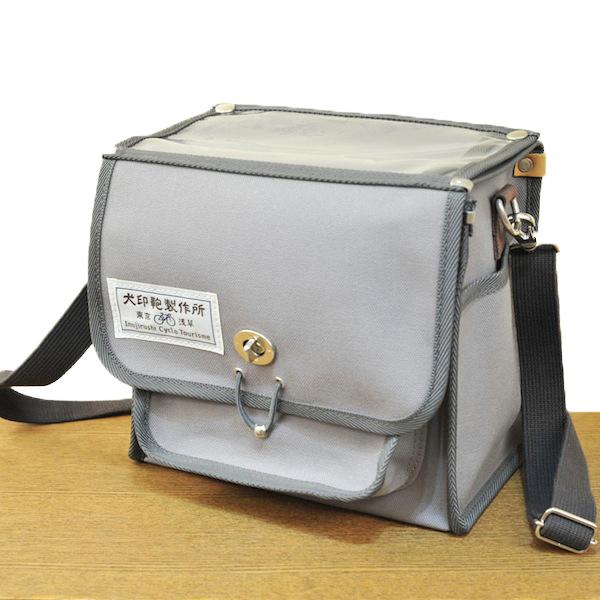 犬印純綿帆布自転車用フロントバッグ(ミニ)