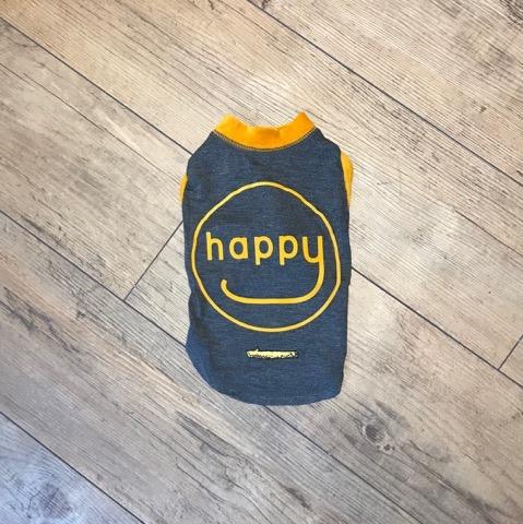 【GEORGE O.L HAPPY Tシャツ/アウトラスト キャメル 3サイズ】NASAの為に開発された素材のTシャツ。暑いときは涼しく、寒いときは暖かくなる機能性素材です。【犬 洋服】