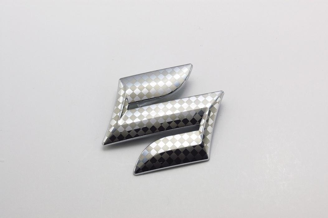 ファサネイト市松模様風スズキ Kカー MH34ワゴンR クローム Fエンブレム 3点セット 純正/メッキ/カラーメッキ/セット/単品/車/車パーツ/カーパーツ/高品質