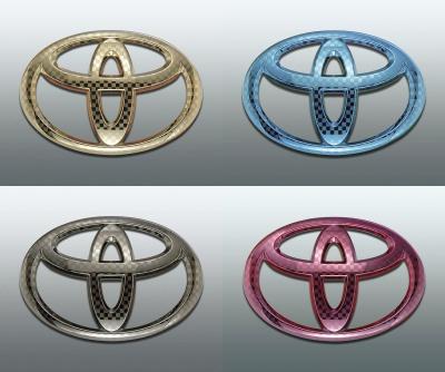 ファサネイト市松模様風トヨタ セダン マークX GRX120マークX250G カラー Fエンブレム 5点セット 純正/メッキ/カラーメッキ/セット/単品/車/車パーツ/カーパーツ/高品質