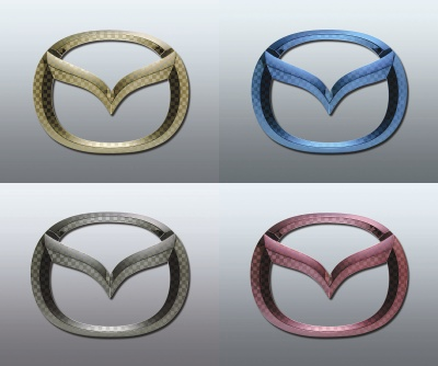 Is LY3P MPV color F emblems front Mazda mark separately ◆ ◆