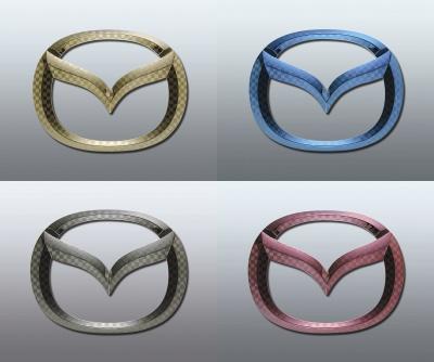 ファサネイト市松模様風マツダ ワゴン CX-3 DK5FW/DK5AW CXー3 カラー Fエンブレム 4点セット 純正/メッキ/カラーメッキ/セット/単品/車/車パーツ/カーパーツ/高品質