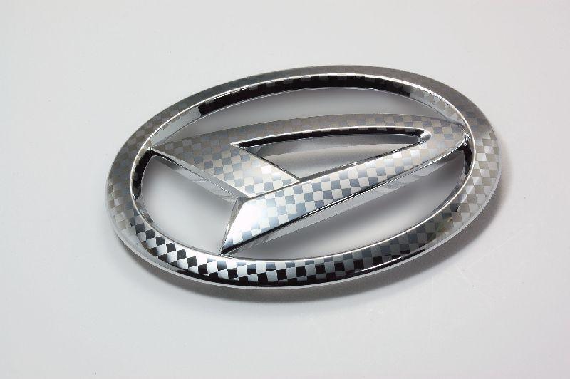 ファサネイト市松模様風ダイハツ Kカー L175ムーブ L175ムーブ クローム Fエンブレム 3点セット 純正/メッキ/カラーメッキ/セット/単品/車/車パーツ/カーパーツ/高品質