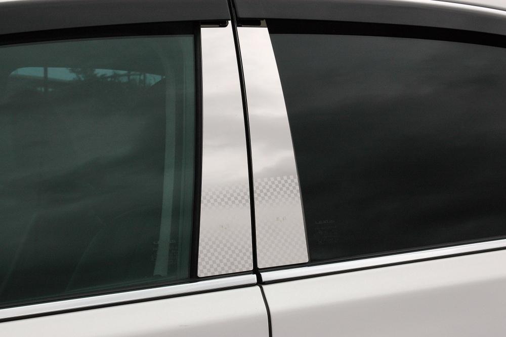 E52系エルグランド ステンレスピラー ファサネイトスタンダードタイプ(チェック柄シリーズ 市松模様風)鏡面HYPER/ピラー/ニッサン/日産/車/車パーツ/ピラーパネル/ステンレス/高品質/送料込み