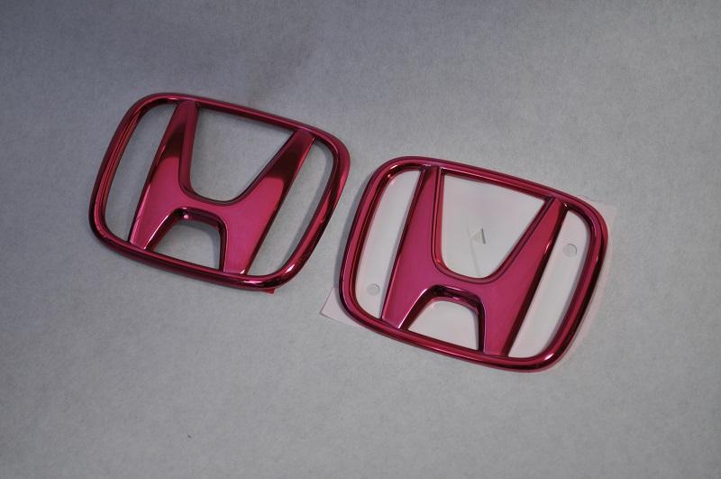 エンブレムホンダ ワゴン RP系ステップワゴン RP ステップワゴン RP1/2 レッドメッキエンブレム3点SET  純正/メッキ/カラーメッキ/セット/単品/車/車パーツ/カーパーツ/高品質/送料無料