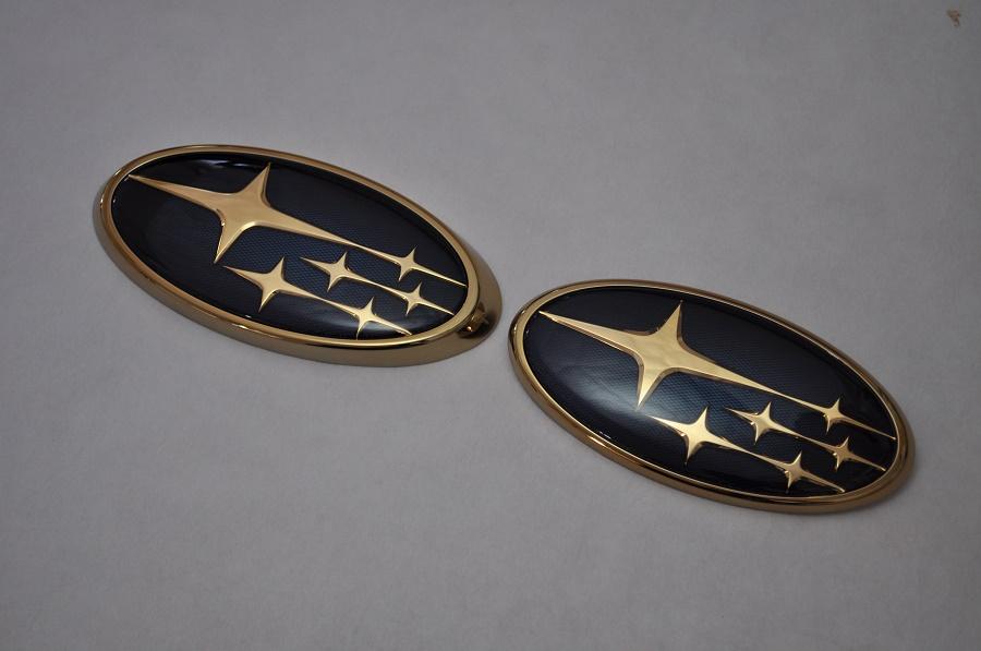 GT インプレッサスポーツ GT2/3 GT6/7 ゴールドエンブレム4点SET  純正/メッキ/カラーメッキ/セット/単品/車/車パーツ/カーパーツ/高品質/送料無料