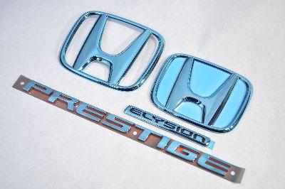 RR1エリシオンプレステージ ブルーメッキエンブレム4点SET  純正/メッキ/カラーメッキ/セット/単品/車/車パーツ/カーパーツ/高品質/送料無料