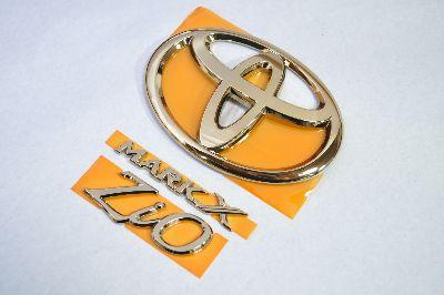 ANA/GGA10系マークXZio ゴールドエンブレム3点  純正/メッキ/カラーメッキ/セット/単品/車/車パーツ/カーパーツ/高品質/送料無料