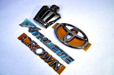 GRS18系クラウンアスリート ブラックメッキエンブレム4点SET  純正/メッキ/カラーメッキ/セット/単品/車/車パーツ/カーパーツ/高品質/送料無料