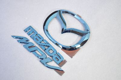 LY3P MPV ブルーメッキエンブレムリア3点SET  純正/メッキ/カラーメッキ/セット/単品/車/車パーツ/カーパーツ/高品質/送料無料