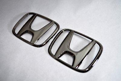 RK1ステップワゴン フロント/リアHマーク ブラックメッキエンブレム  純正/メッキ/カラーメッキ/セット/単品/車/車パーツ/カーパーツ/高品質/送料無料