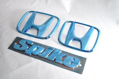 GB3フリードスパイク ブルーメッキエンブレム3点SET  純正/メッキ/カラーメッキ/セット/単品/車/車パーツ/カーパーツ/高品質/送料無料