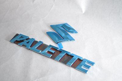 MK21Sパレット ブルーメッキエンブレムリア2点  純正/メッキ/カラーメッキ/セット/単品/車/車パーツ/カーパーツ/高品質/送料無料