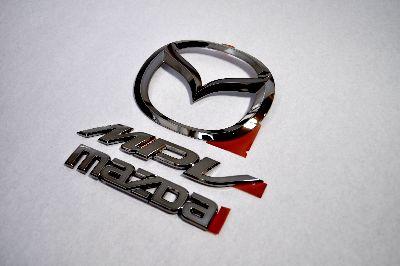 LY3P MPV ブラックメッキエンブレムリア3点SET  純正/メッキ/カラーメッキ/セット/単品/車/車パーツ/カーパーツ/高品質/送料無料