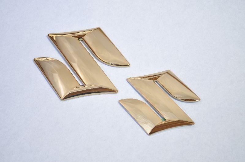 ZC72 ZC31 ZC32 ZC33 スイフト フロント/リアSマーク ゴールドメッキエンブレム  純正/メッキ/カラーメッキ/セット/単品/車/車パーツ/カーパーツ/高品質/送料無料