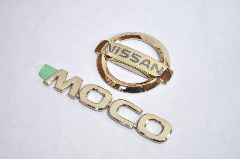 MG33 モコ ゴールドメッキエンブレムリア2点  純正/メッキ/カラーメッキ/セット/単品/車/車パーツ/カーパーツ/高品質/送料無料