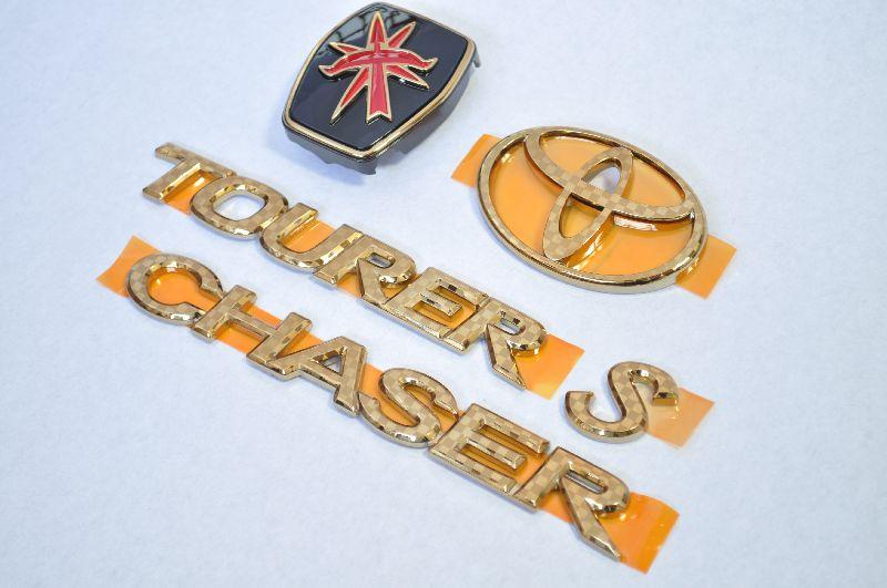 JZX100チェイサー カラー Fエンブレム 5点セット 純正/メッキ/カラーメッキ/セット/単品/車/車パーツ/カーパーツ/高品質