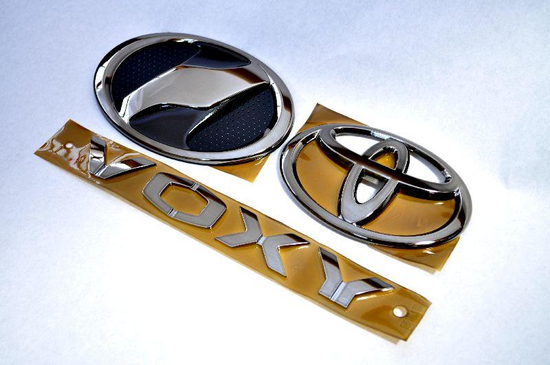 ZRR70 ヴォクシー ブラックエンブレム3点SET  純正/メッキ/カラーメッキ/セット/単品/車/車パーツ/カーパーツ/高品質/送料無料