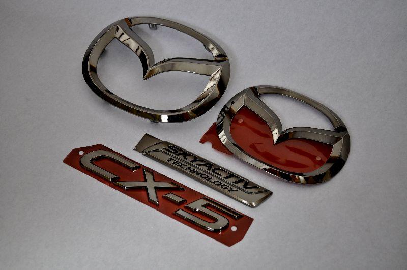 KEEFW CX-5 前期 ブラックメッキエンブレム4点SET  純正/メッキ/カラーメッキ/セット/単品/車/車パーツ/カーパーツ/高品質/送料無料