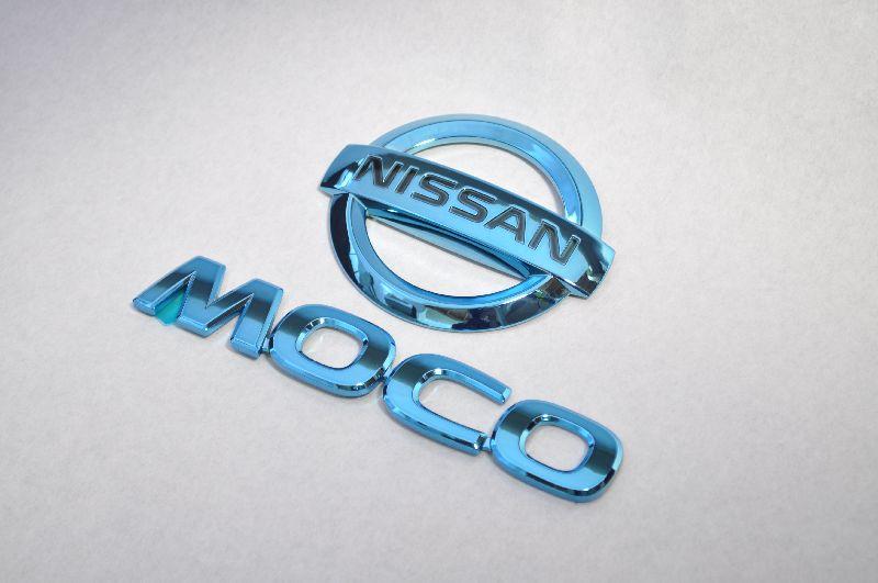 MG33 モコ ブルーメッキエンブレムリア2点SET  純正/メッキ/カラーメッキ/セット/単品/車/車パーツ/カーパーツ/高品質/送料無料