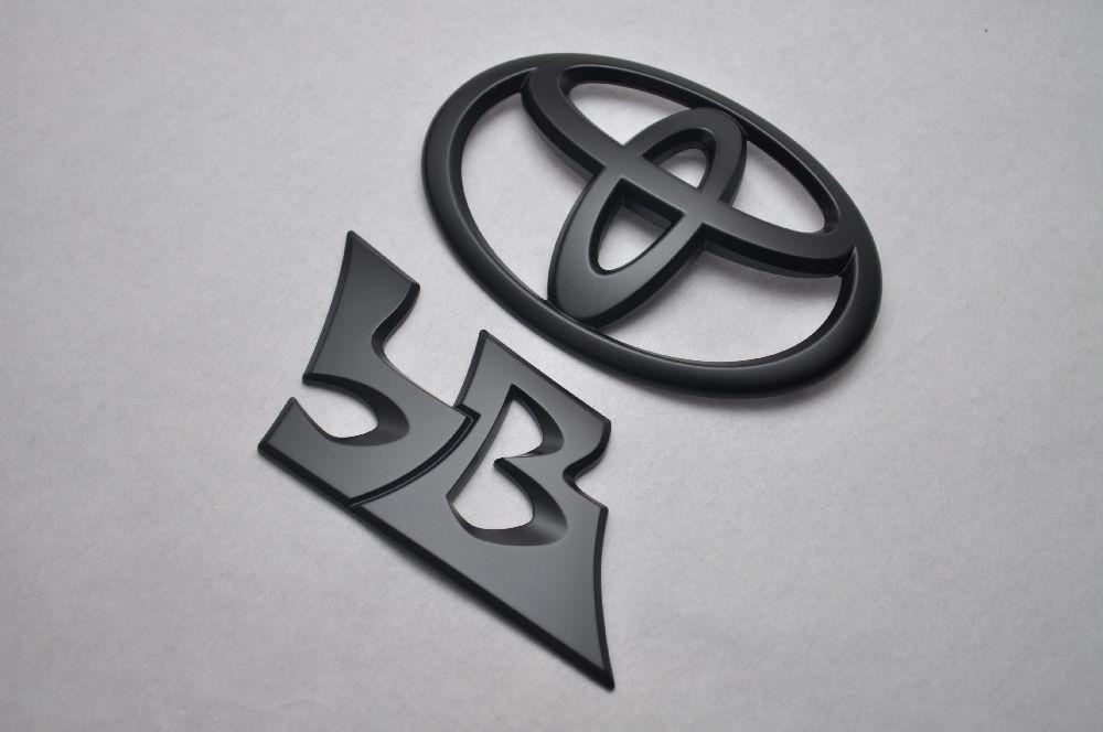 QNC系 bB マットブラックエンブレム(艶消し) リア2点SET  純正/メッキ/艶消し/黒/セット/単品/車/車パーツ/カーパーツ/高品質/送料無料