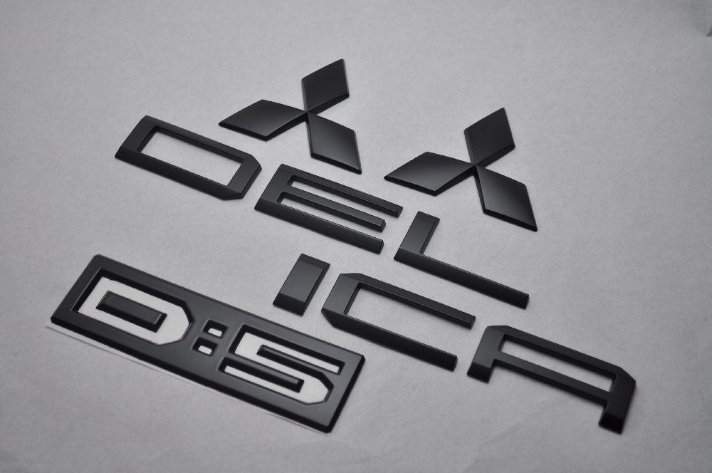 CV5W デリカD:5 マットブラックエンブレム(艶消し) 4点SET  純正/メッキ/艶消し/黒/セット/単品/車/車パーツ/カーパーツ/高品質/送料無料