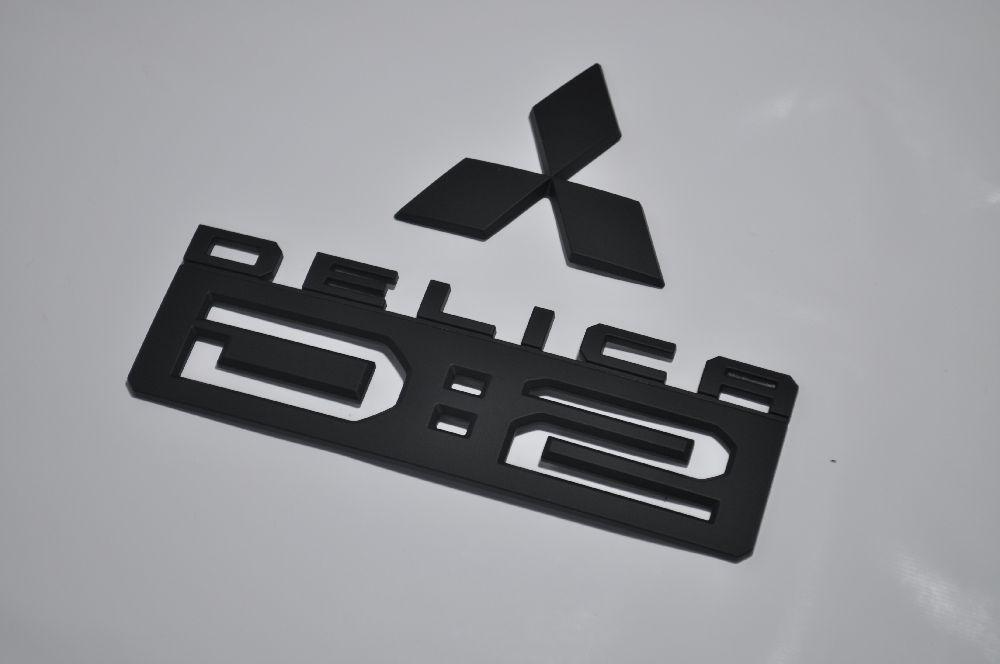 MB15系デリカD2 マットブラックエンブレム(艶消し) リア2点SET  純正/メッキ/艶消し/黒/セット/単品/車/車パーツ/カーパーツ/高品質/送料無料